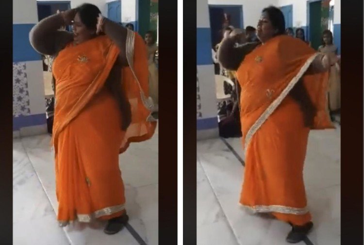 viral dance video 2019 women dancing on simmba song aankh marey on social media