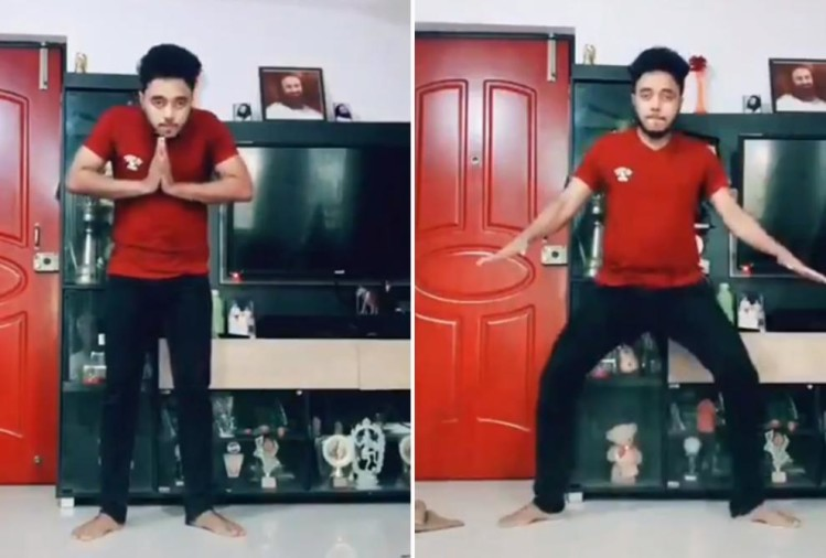 Vaishakh Nair doordarshan dance on tik tok video viral on social media