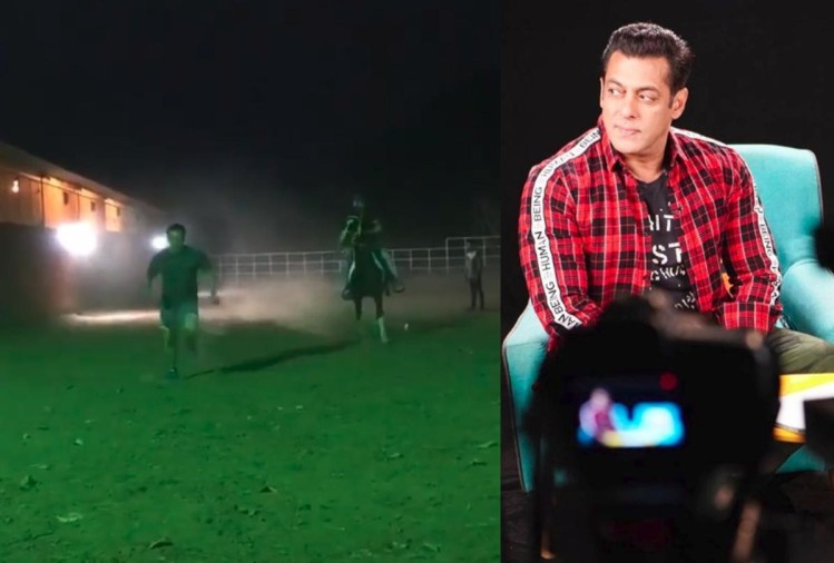 salman khan viral video on instagram race with horse