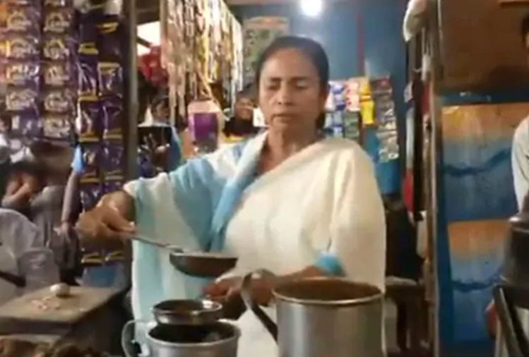 west bengal cm makes tea