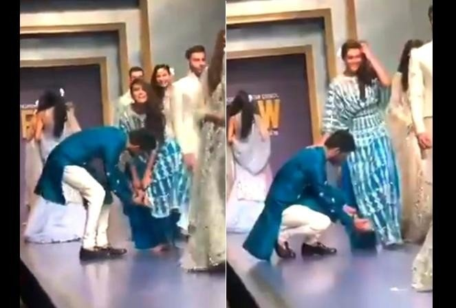 viral video of Pakistan fashion show during oops moment on the ramp walk
