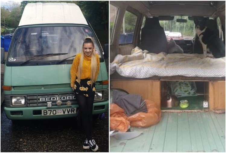 Scotland Student converting 35-year-old campervan into her new home