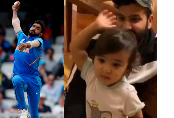 Viral Video Of Rohit Sharma's Daughter Trying To Copy Bumrah Action