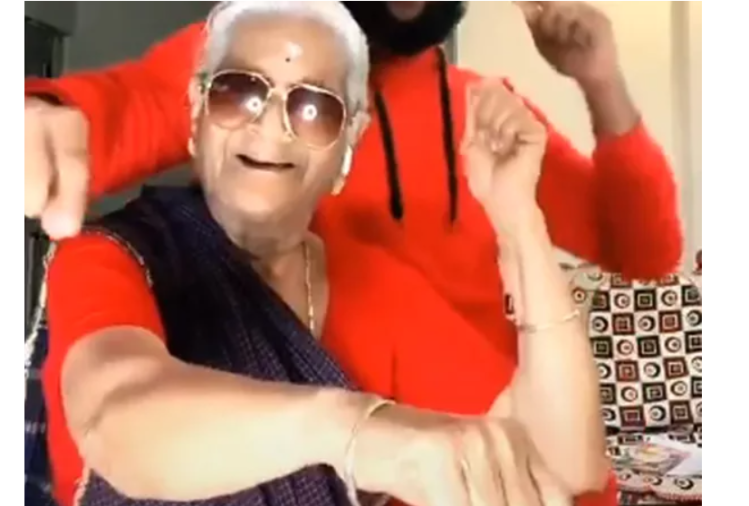 viral video of grandma tik tok on gore gore mukhre par kala kala chasma wins your heart