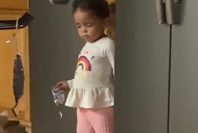 Child was trying to steal food from fridge