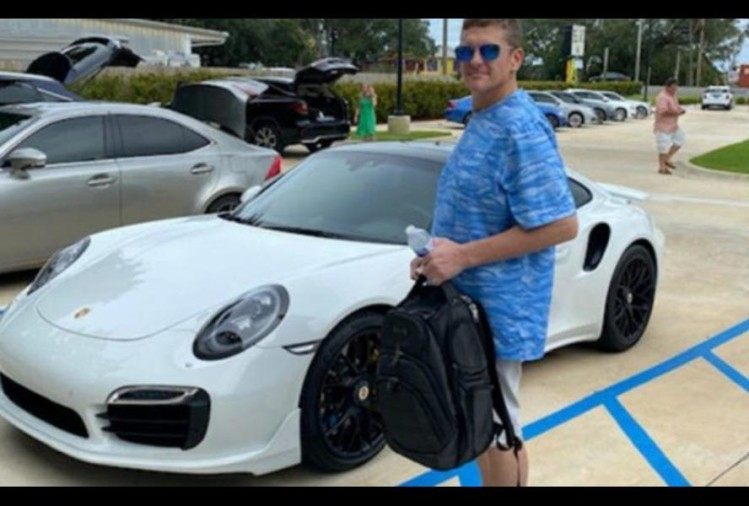florida man brought porsche 911 turbo car with home printed check of rs $140,000