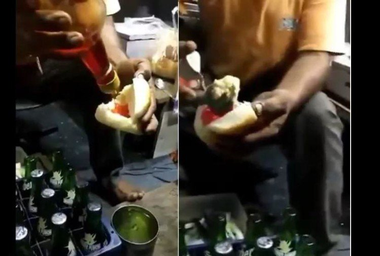 viral video of weird dish where user make ice cream pav people got angry on it