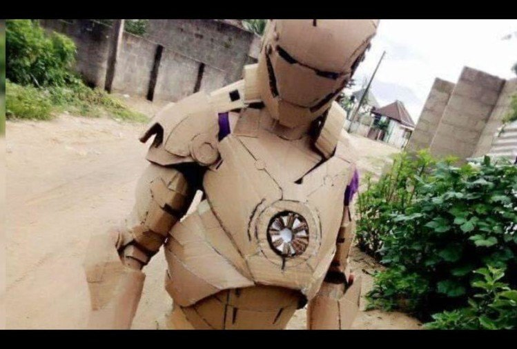 Child make accurate suit of iron man via waste cardboard people make hilarious comment on it