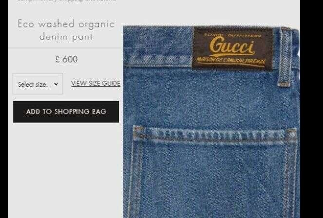 Gucci Unveils Jeans selling jeans with fake grass stain woryh rs 88000