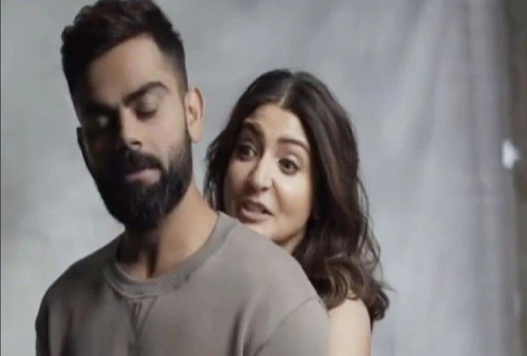 Anushka sharma lift virat kohli in air see how virat kohli reacted on it