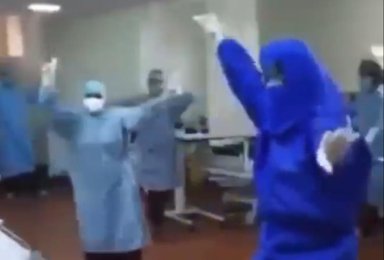 Doctors and medical staff were dancing bhangra to encourage covid patient in Punjab video goes viral