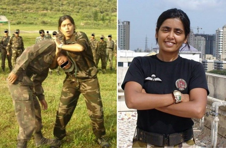 womenia india's only female commando trainer dr seema rao miss india finalist