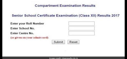 CBSE Class XII Compartment Result 2017 Declared