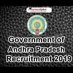 Government Of Andhra Pradesh Recruitment 2019 Process For
