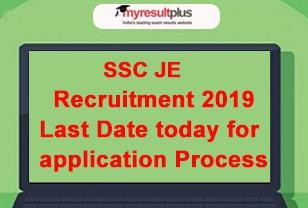SSC JE Recruitment 2019: Online Application Process to Conclude Today