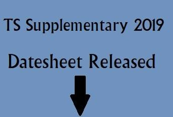 TS Compartment Exam Datesheet Released, Check here for Detailed Information