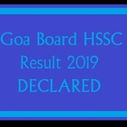 Goa Board HSSC 12th Result 2019 Declared