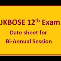 JKBOSE 12th Exam 2019: Date sheet Released for Bi-Annual Session 2019 Private Jammu Province