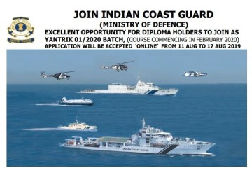 Syllabus and Exam Pattern for Indian Coast Guard Yantrik Recruitment 2019, Start Prepping