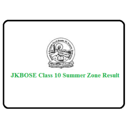 JKBOSE 10th Result 2019 for Summer Zone Declared, Direct Link Here