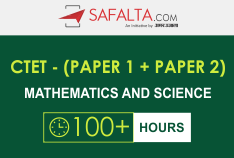 CTET (Paper 1 + Paper 2) : Mathematics and Science