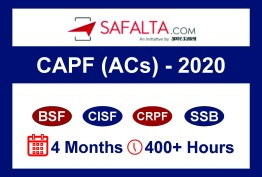CAPF (ACs) – DEC 2020 - MASTER BATCH-1
