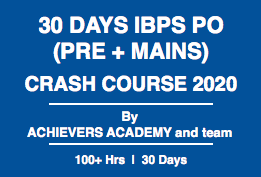 30 Days IBPS PO Crash Course