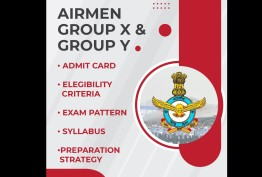 IAF  Airmen Group X and Group Y- Admit card, Eligibility criteria, Exam Pattern, Syllabus, Preparation Strategy