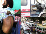ambulance driver beaten