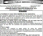 UPSC Combined Medical Services Exam 2017 On August 13, Know Application Process Here
