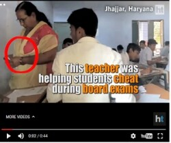 Caught on Camera: Teacher helping students in Haryana Board exam