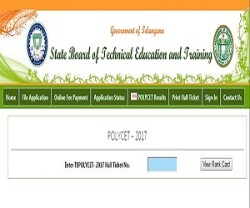 Telangana POLYCET Results 2017 Declared