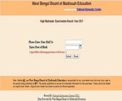 West Bengal Board Of Madrasah Education Class XII Results 2017 Declared