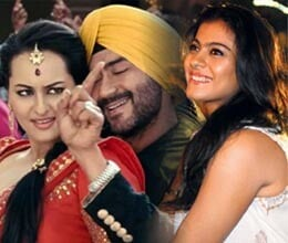 kajol with ajay for son of sardar