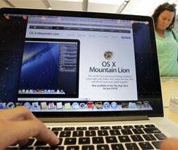apple releases mountain lion operating system