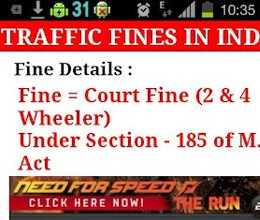 android application tells traffic rules