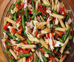 flavoured chicken bean pasta salad recipe