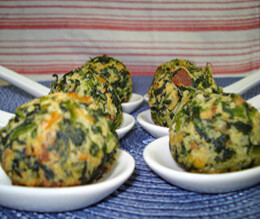 spinach potato cheese balls recipe