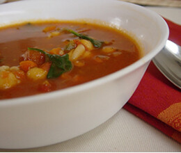 chana minestrone soup recipe
