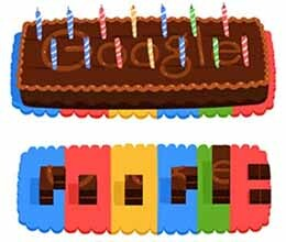 google celebrates its 14th birthday with an animated doodle