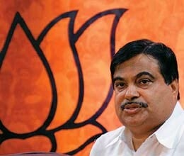 gadkari gets second term as bjp president