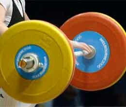 vandana won gold in weightlifting