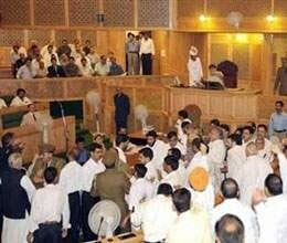 three youths ruckus jammu and kashmir assembly
