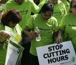 protest against walmart in u.s.