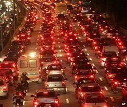 city of 180 kilometers traffic jam