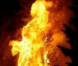woman burnt alive by her alcoholic husband
