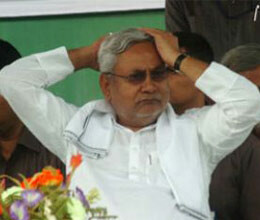 girls black scarf stripped in nitish governance