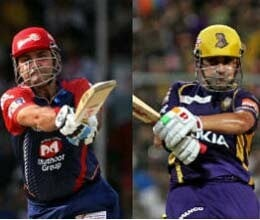 Kolkata Knight Riders play with delhi daredevils in champians league