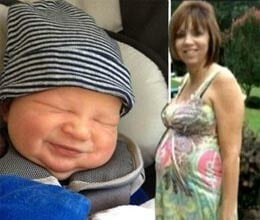 women in forties give birth to grandson