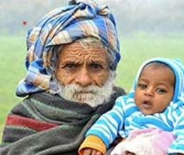 102 year old man became father young man
